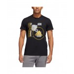 Mens Q4 WANTED Rubberized Graphic on Lightweight T-Shirt