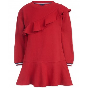 Big Girls Ruffled Sweatshirt Dress