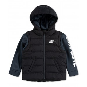 Toddler Boys 2-In-1 Hooded Therma Jacket