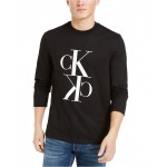 Calvin Klein Mens Reflection Long-Sleeve Logo T-Shirt