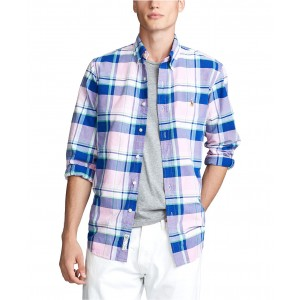 Mens Big & Tall Classic Fit Plaid Oxford Shirt