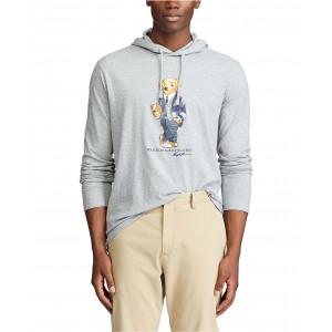 Mens Polo Bear Hooded T-Shirt
