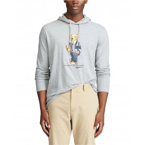 Mens Polo Bear Hooded T-Shirt