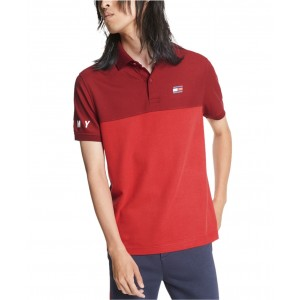 Mens Dani Custom-Fit Colorblocked Polo Shirt