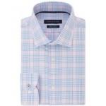 Mens Slim-Fit Blossom Check Dress Shirt