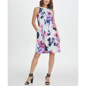 Sleeveless Trapeze Floral Dress