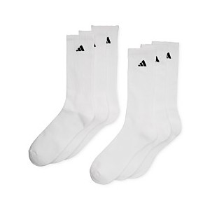 Mens Cushioned Athletic 6-Pack Crew Socks