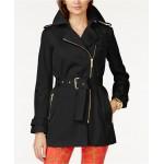 Belted Front-Zip Trench Coat in Regular & Petite Sizes