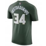 Mens Giannis Antetokounmpo Milwaukee Bucks Name & Number Player T-Shirt