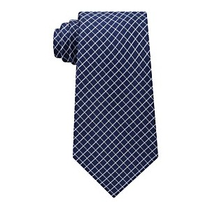 Mens Mini Grid Silk Tie
