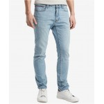 Tommy Hilfiger Mens Slim-Fit Stretch Tapered Denim Jeans, Created for Macys