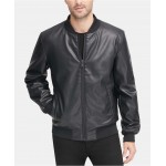 Mens Soft Faux-Leather Bomber Jacket, Created for Macys