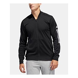 Mens 3 Stripe Track Jacket with Mesh Arm Details and Side Snaps