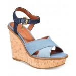 Cross Band Wedge Sandals