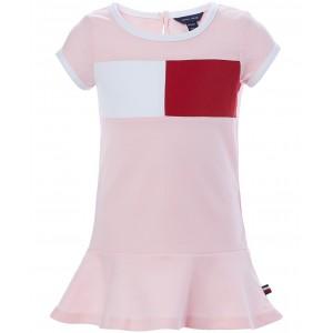 Baby Girls Colorblocked Flag Logo Knit Dress