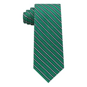Mens Tricolor Stripe Silk Tie