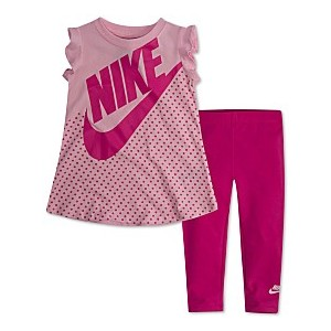 Baby Girls 2-Pc. Printed Dress & Leggings Set