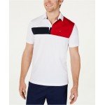 Mens Garcia Custom-Fit Moisture-Wicking Colorblocked Polo