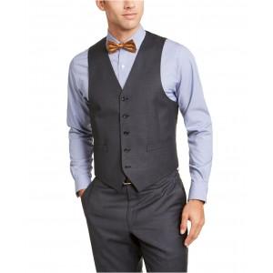 Mens Classic-Fit UltraFlex Stretch Gray Suit Vest