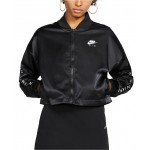 Womens Air Cropped Satin Track Jacket