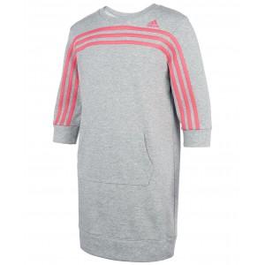 Big Girls Three-Stripe French Terry Dress