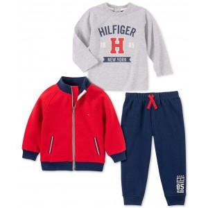 Baby Boys 3-Pc. Fleece Jacket, T-Shirt & Pants Set