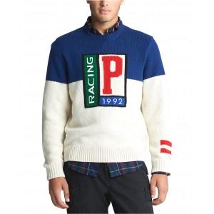 Mens Wool P Racing Sweater