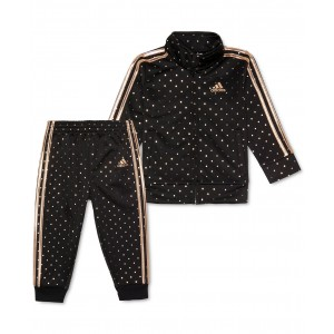 Little Girls 2-Pc. Dot-Print Jacket & Pants Tricot Track Set