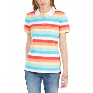 Rainbow-Stripe Polo