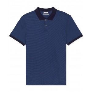 Mens Liquid Touch Micro Stripe Polo Shirt
