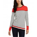 Lucy Cotton Striped Colorblocked Sweater