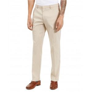 Mens Classic-Ft Stretch Mini-Check Dress Pants
