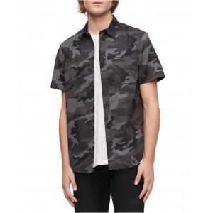 Calvin Klein Mens Short Sleeve Camo Print Shirt