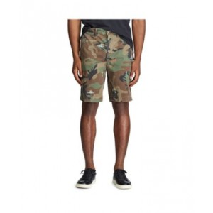 Mens Relaxed Tropical Camo Shorts
