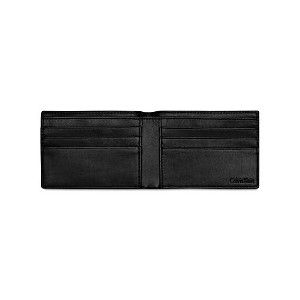 Mens Textured Leather Slimfold Wallet