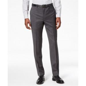 Mens Modern-Fit Stretch Textured Suit Pants