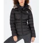 Gotham Faux-Fur-Trim Hooded Jacket