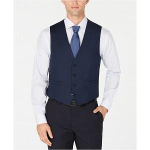 Mens X-Fit Slim-Fit Stretch Blue Birdseye Suit Vest