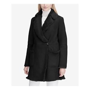 Wrap-Front Shearling Coat