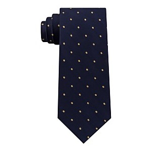 Mens Herringbone Dot Tie