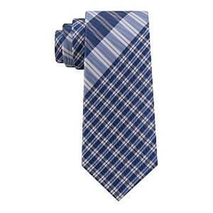 Mens Exploded Plaid Silk Tie