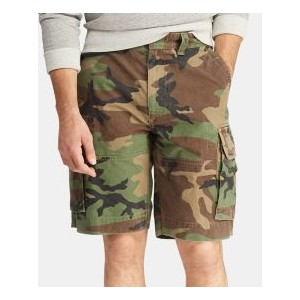 Mens Big & Tall Relaxed Fit Camouflage Cotton Cargo Shorts