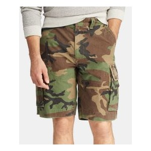 Mens 10.5 Relaxed Fit Camouflage Cotton Cargo Shorts
