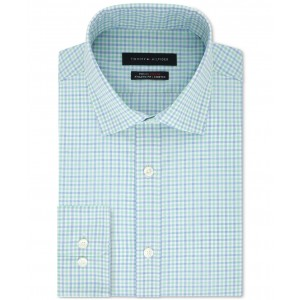 Mens TH Flex Fitted Non-Iron Stretch Check Dress Shirt