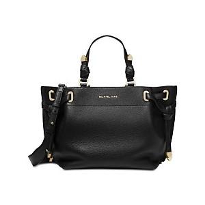 Greta Pebble Leather Satchel
