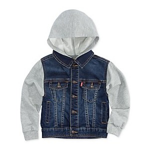 Baby Boys Hooded Trucker Jacket
