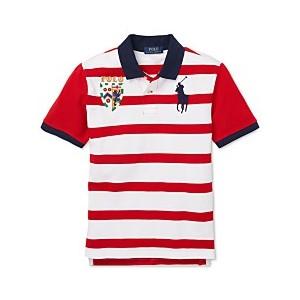Big Boys Striped Cotton Mesh Polo Shirt
