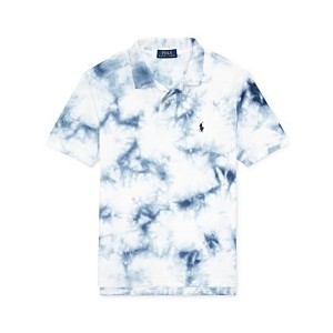 Big Boys Tie-Dye Cotton Mesh Polo Shirt