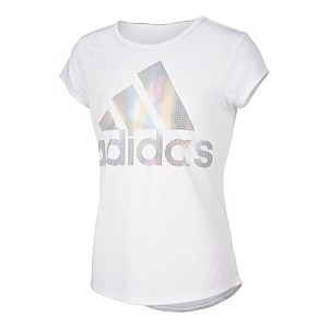 Little Girls Rainbow Climalite Moisture-Wicking Logo T-Shirt