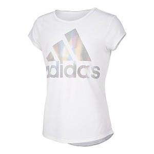 Toddler Girls Rainbow Climalite Moisture-Wicking Logo T-Shirt